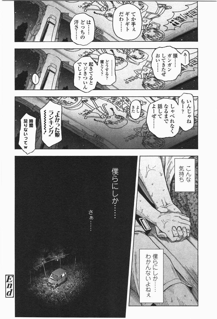 【エロ漫画】ろりともだちのオタク二人組みが美少女JSを次々誘拐して車内で残虐ロリコンレイプ!00038