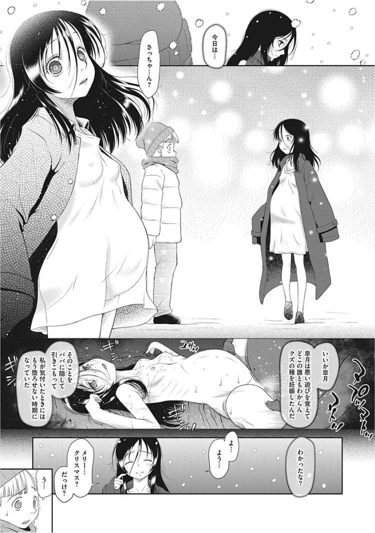 【エロ漫画】アナルで犯され、初潮が来たと同時に父に監禁され孕むまで犯され続ける女子小学生が妊娠闇墜ち!00019