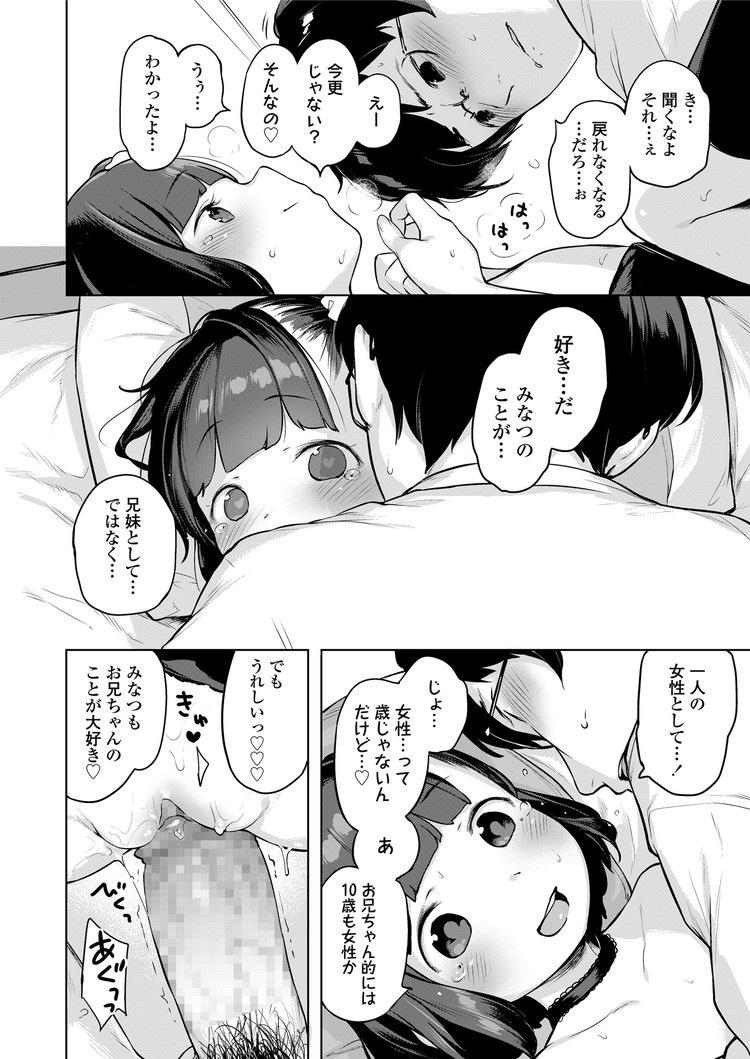【エロ漫画】つるペタボディの女子小学生妹が兄を誘惑してぷにまんを触らせてくれて中出し近親相姦セックスのサービスしてくれるw00030