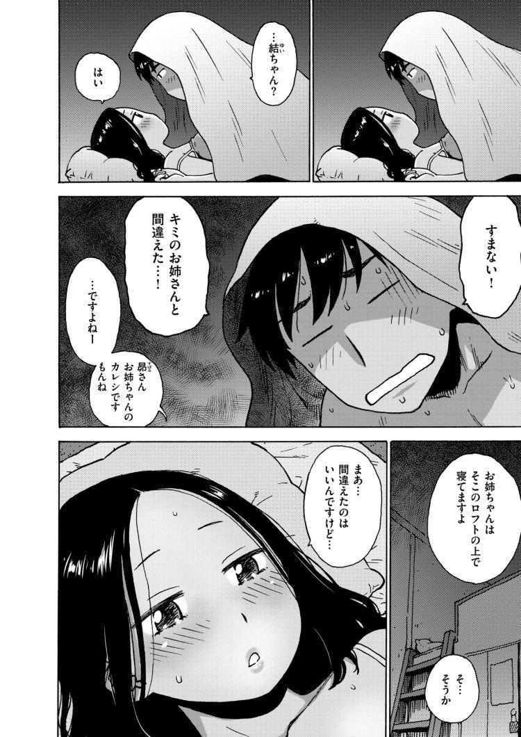 【エロ漫画】彼女と間違えて彼女の妹を夜這い即ハメしてしまった彼氏!彼女にバレないように毛布をかぶって浮気セックスをしてしまう!00002