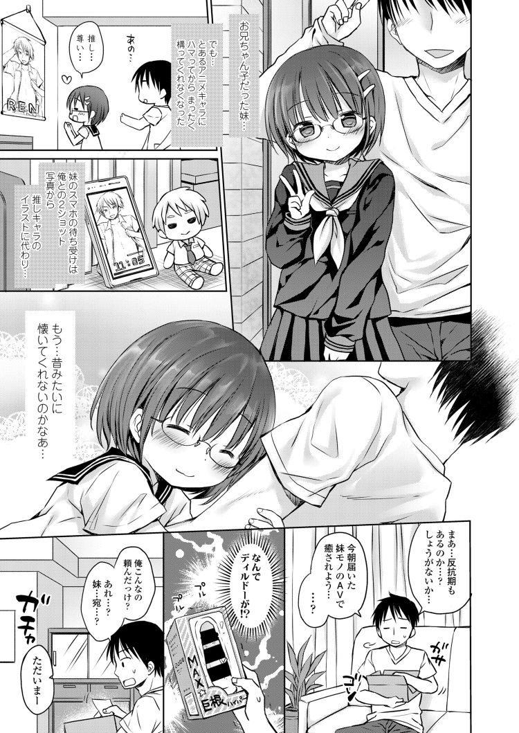 【エロ漫画】オタク女子中学生妹の推しキャラの抱き枕カバーを被って足コキされる兄!興奮した妹がちんぽに跨り近親相姦セックスしてしまう!00003