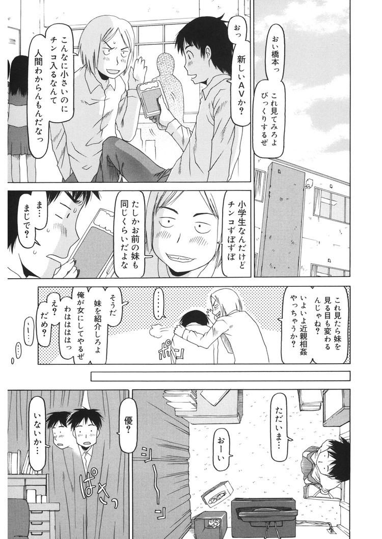 【エロ漫画】本番はしなかったが女子中学生妹とエッチなことをしあう関係の兄妹!ある日AVを見てセックスしたくなってしまったので近親相姦中出しセックスをする!00003