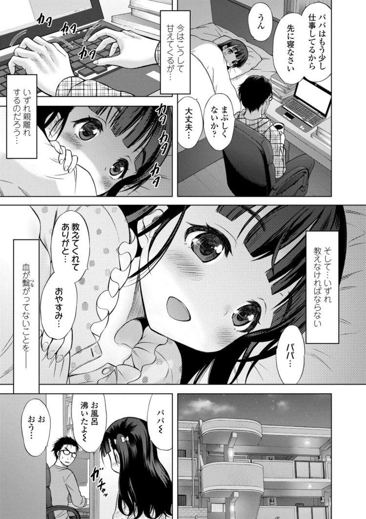 【エロ漫画】血の繋がらない女子小学生娘が成長するごとにどんどんエッチになって、オナニーを見せてきたりフェラしてきたりして遂に中出しセックスまでしてくる!00003