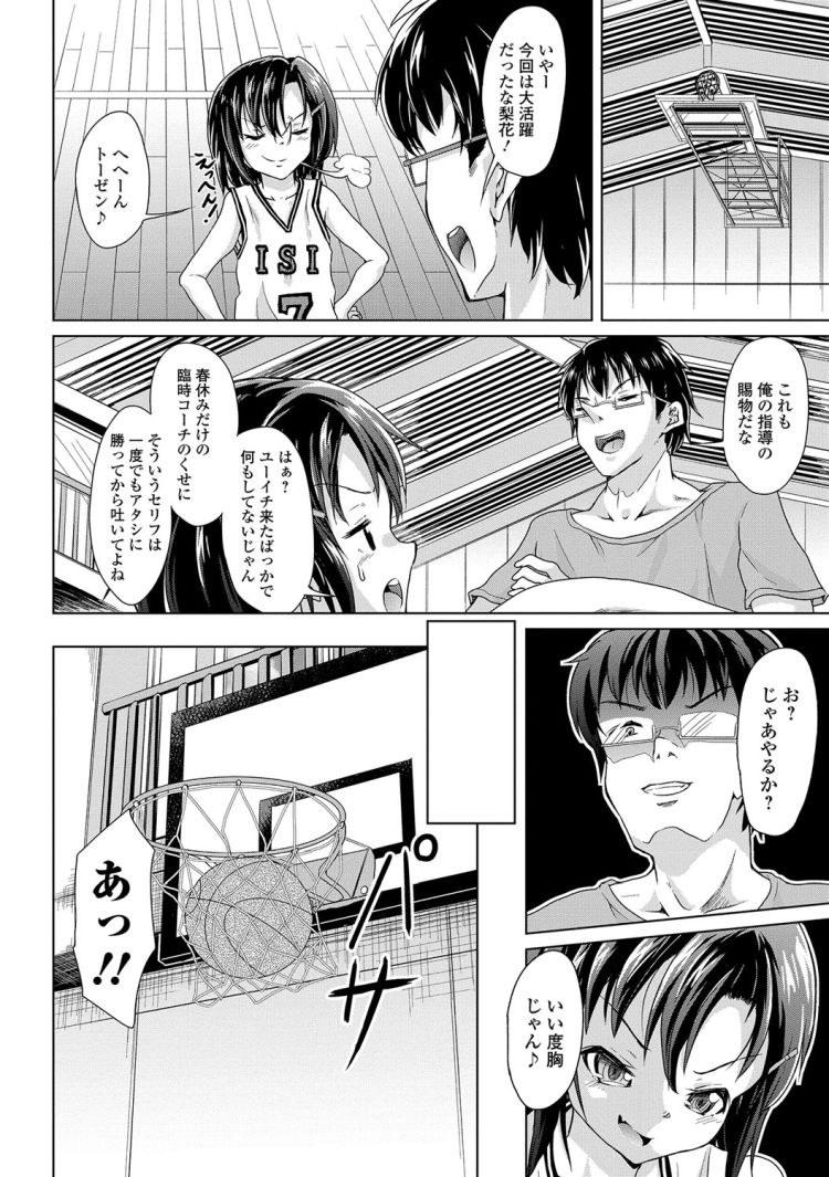 【エロ漫画】バスケ部の女子小学生が大学生のコーチを童貞とバカにしてきたので体育倉庫に連れ込んで処女&童貞卒業セックスをする!00002